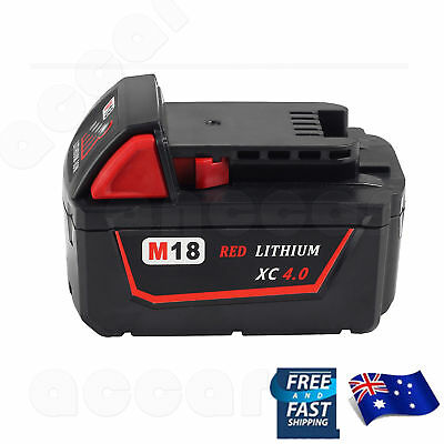 AU35.99 • Buy Battery For Milwaukee M18 18V 4.0AH M18B4 48-11-1815 LITHIUM XC 4.0 48-11-1811