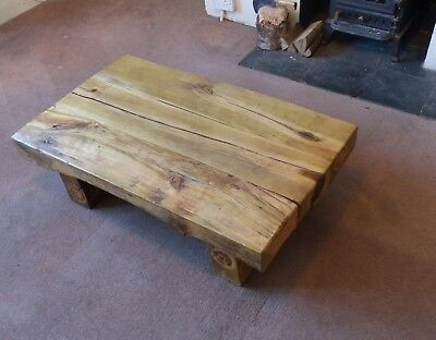 £300 • Buy Rustic Coffee Table Made From Recycled Railway Sleepers