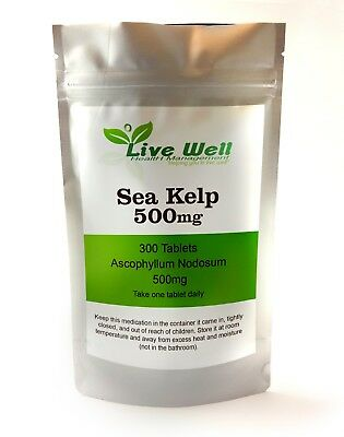 View Details Sea Kelp Tablets 500 Mg, High Strength For Healthy Skin & Cognitive Function.  • 2.50£