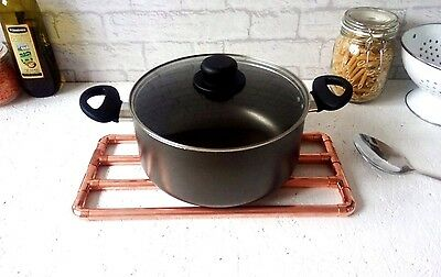 £16.95 • Buy Copper Pot Trivet / Pot Stand / Worktop Protector - Handmade With Real Copper