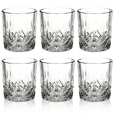 Queensway 6pc Whiskey Liquer Tumblers Drinking Glasses Gift Boxed Set Wedding  • 7.99£