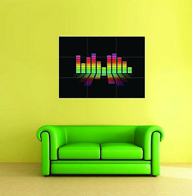 Equaliser Funky DJ Music Giant Wall Art Poster Print • 13.99£