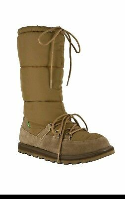 Sanuk Sidewalk Surfer Winter Moon Snow Boot 7/38/uk 5 Brown • 85£