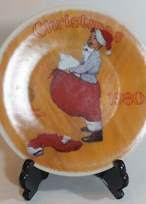 $ CDN20.67 • Buy Norman Rockwell Scotty Plays Santa KNOWLES 8.25  1980 Christmas PLATE