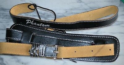 $ CDN43.80 • Buy Leather Vintage Style Guitar Strap By Phantom Guitar Works Inc FREE Shipping!