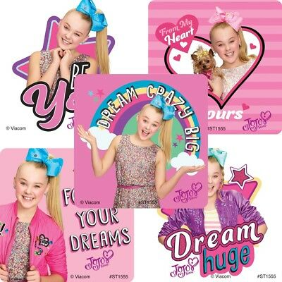 AU2.75 • Buy Jojo Siwa Stickers X 5 - Bows Party Supplies Loot Jojo Siwa Girl's Party Fun
