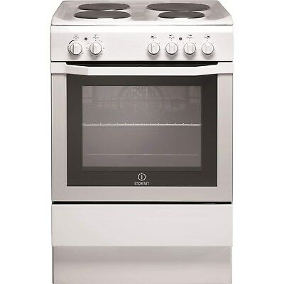£269.96 • Buy Indesit I6EVAW 60cm Single Oven Electric Cooker With Sealed Plate Hob - White