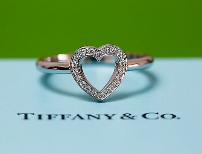 Tiffany & Co Diamond Heart Ring Platinum Rrp £1850 New Engagement Solitaire • 1,099£
