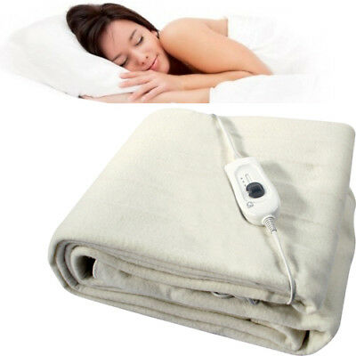 £11.95 • Buy King Electric Blanket Under Bed Warm Night Washable 120cm X 130cm Heated Fast