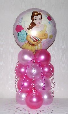 Disney Princess - Belle -foil Balloon Display-table Centerpiece-no Helium Needed • 5.90£