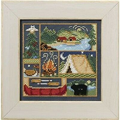 $11.49 • Buy MILL HILL Buttons Beads Kit Counted Cross Stitch CAMPING OUT MH14-8103