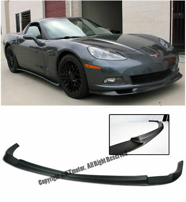 $149.99 • Buy Zr1 Style Abs Front Lip For Corvette Base Only 05-13 C6 Kit Splitter Bumper