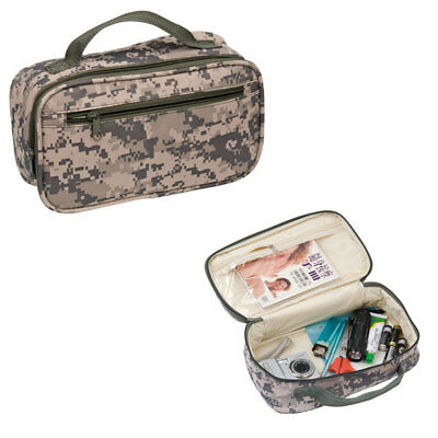 AU13.05 • Buy Travel Accessories Toiletry Cosmetics Shaving Kit Pouch Bag Army Camouflage