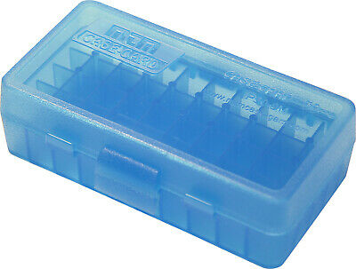 AU7.29 • Buy MTM Pistol Ammo Box 50 Round Flip-Top 9mm 380 ACP Clear Blue P50-9M-24