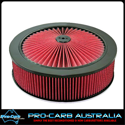 AU160 • Buy WW STROMBERG AIR CLEANER 9 X55mm REDLINE AIR FILTER WASHABLE COTTON 16-208BLK