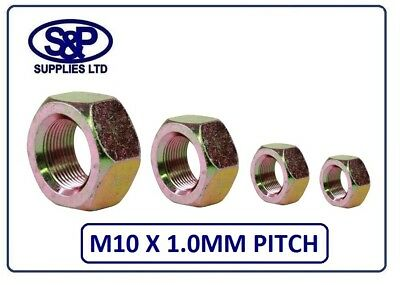 £3.47 • Buy M10 X 1.0mm Fine Pitch Hex Full Nut 10mm Zinc Yellow Plated 1.0mm Pitch X 10mm