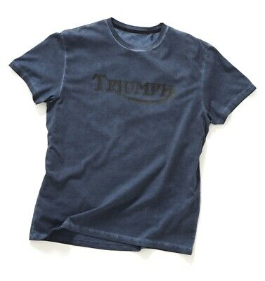 Triumph Dime Vintage Logo T-Shirt - Blue - Official Triumph Clothing • 24£