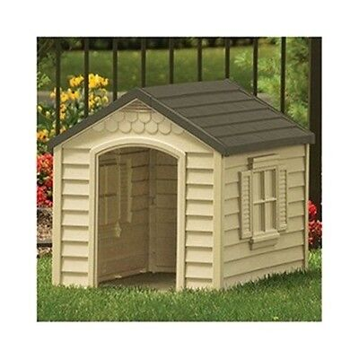 $96 • Buy Large Dog House All Weather Outdoor Resin Durable Kennel Hard Plastic NEW!!
