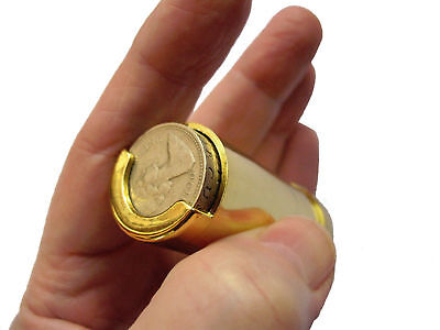 £7.50 • Buy One Pound £1 Coin Holder Gadget Holds Up To 15 Coins Gold Holder