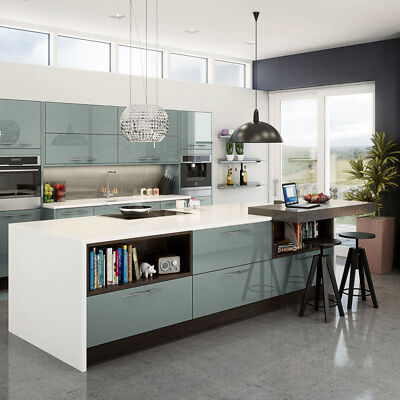 £65 • Buy Magnet Astral Blue Acrylic Kitchen Cabinet Doors, End Panels And Frontals