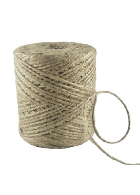 1-1500m 2 Ply Natural Brown Soft Jute Twine Sisal Wool String Rustic Shabby Reel • 0.99£