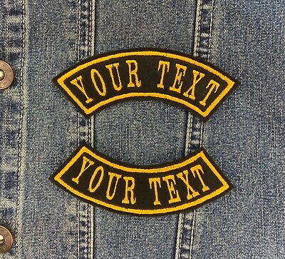 £3.55 • Buy 1 Line Arched Shoulder Rocker Embroidered Name Patch Felt Iron/sew On