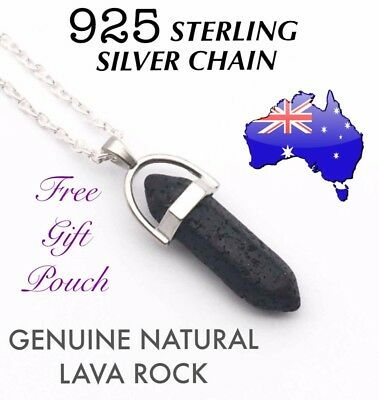 AU11.95 • Buy Lava Rock Aromatherapy Essential Oil Diffuser Pendant 925 Sterling Necklace Gift