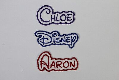 Personalised Embroidered Name Patch DISNEY - Iron Or Sew On *FREE POST* • 3.25£