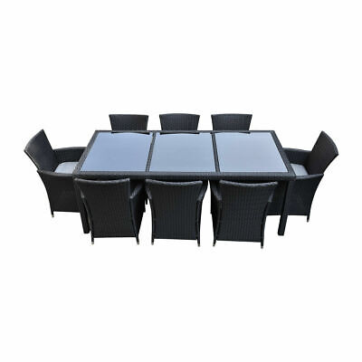 AU1040 • Buy 9PC Outdoor Furniture PE Wicker Dining Table Set Garden Patio Pool Setting BBQ