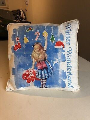Hand Made Disney Alice In Wonderland Cushion Pillow • 20£