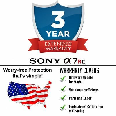 $ CDN267.44 • Buy 3yr Extended Warranty + Cleaning & Firmware Update For Sony A7RII A7R II A7R2