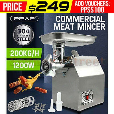 AU259 • Buy 1.63HP Commercial Meat Mincer- Electric Grinder & Sausage Maker Filler 1200W OZ