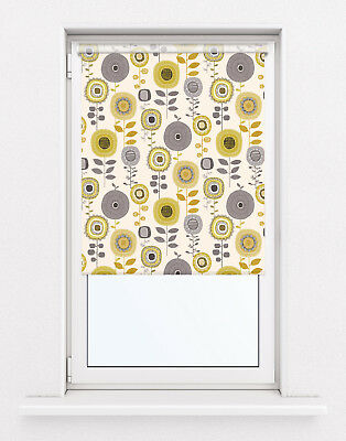 Mustard Coloured Quality Made To Measure Roller Blinds • 29.99£