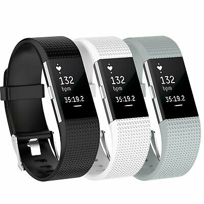 $ CDN8.56 • Buy 3 Pack Replacement  Band For Fitbit Charge 2 Small Bracelet Watch Rate Fitness