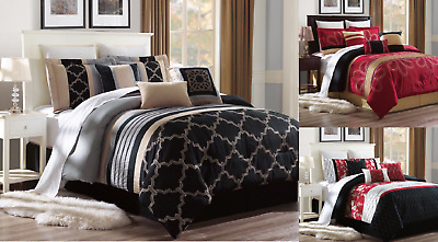 $25 • Buy New Bed Collection 3pc Embroidery Duvet Comforter Bed Cover Set W/ Pillow Shams