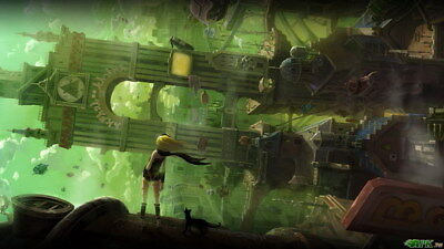 AU8.92 • Buy 003 Gravity Rush 2 - Action Fight Game 24 X14  Poster