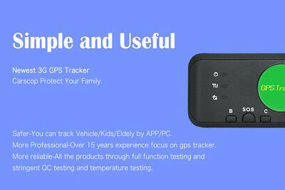 AU149.95 • Buy 3G GPS Tracker With Mini Size Long Battery Life No Installation For Car AU