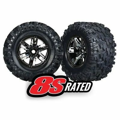 AU100.24 • Buy Traxxas 7772A X-Maxx 8S-Rated Tires Pre-Mounted On Black Chrome Wheels