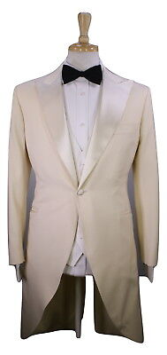 £914.48 • Buy From The Closet Of TOMMY HILFIGER Custom Ivory Cream Tuxedo Tails 3-Pc Suit 38R