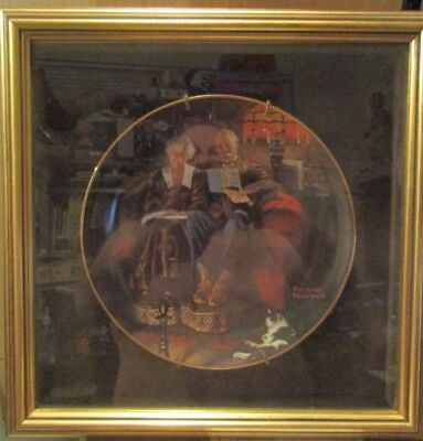 $ CDN35.59 • Buy Norman Rockwell Edwin M Knowles Collectible Plate Evening's Ease Limited Edition