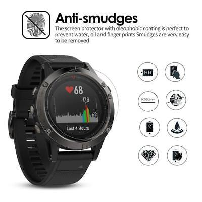 AU6.11 • Buy 2pcs 9H Premium HD Tempered Glass Screen Protector Film For Garmin Fenix 5S