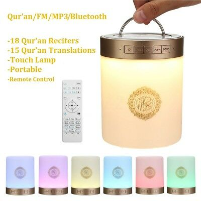 £19.99 • Buy Smart Portable Bluetooth Quran Speaker With Table / Hanging Touch Lamp (MQ-121)