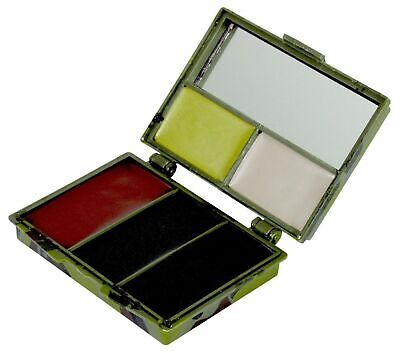 Camouflage Face Paint Cream Palette + Mirror 5 Camo Colors Drab Military Airsoft • 5.95£
