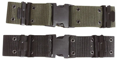 Wide Quick Release Pistol Belt Army Military Combat Airsoft Webbing Olive Belts • 9.45£