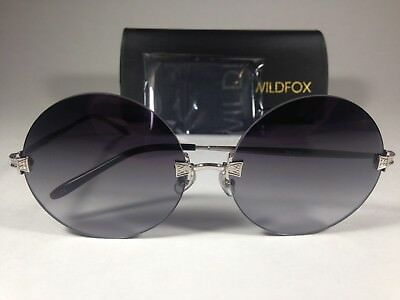 f7efa11c57f New Authentic Wildfox Pearl Sunglasses Round Gray Metal Frame Gray Gradient  Lens • 99.99