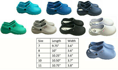 Medical Nursing Womens Ultralite Clogs With Heel Strap Non-Slip Light Shoes • 8.07£