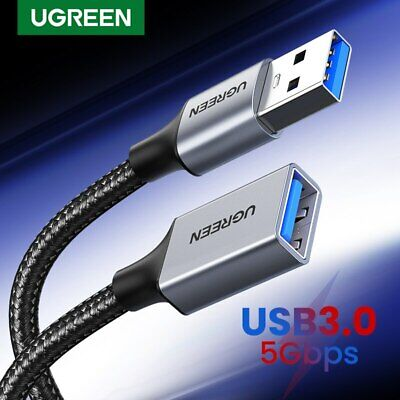 AU21.59 • Buy Ugreen USB 3.0 Cable Super Speed USB Extension Cable USB 2.0 Data Extender Lead