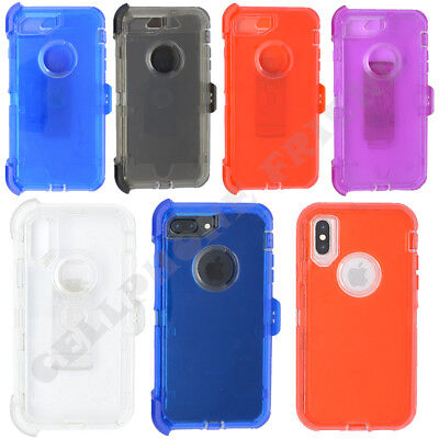 AU14.22 • Buy For Apple IPhone 8 Plus Clear Case Cover W/(Clip Fits Otterbox Defender)