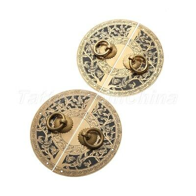 AU9.55 • Buy Furniture Hardware Chinese Cabinet Plate Handle Door Pull Knocker Antique Brass