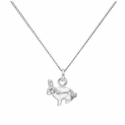 £13.55 • Buy Sterling Silver Bunny Rabbit Necklace In 16+2 Inch Chain
